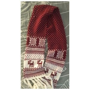 Red Scarf for Holiday Season